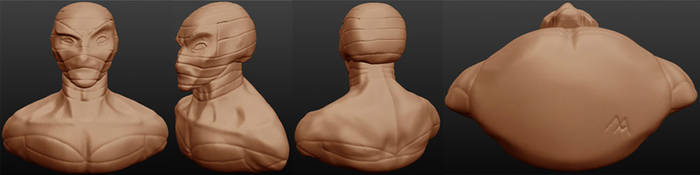 Sculptris: Mad Mummy bust by OrionSTARB0Y