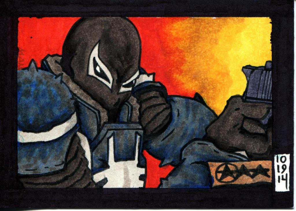 Agent Venom - The Venom Site 2014 Exclusive Card by OrionSTARB0Y