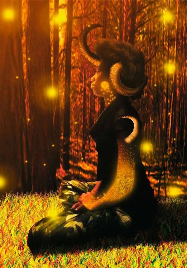 Golden Monster by AJWolfJordan