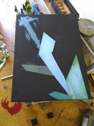 WIP- Geometric Abstract painting for Studio Founda by ShaunSunday