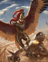 Bloodtalon, Aerial Assault Leader by RadialArt