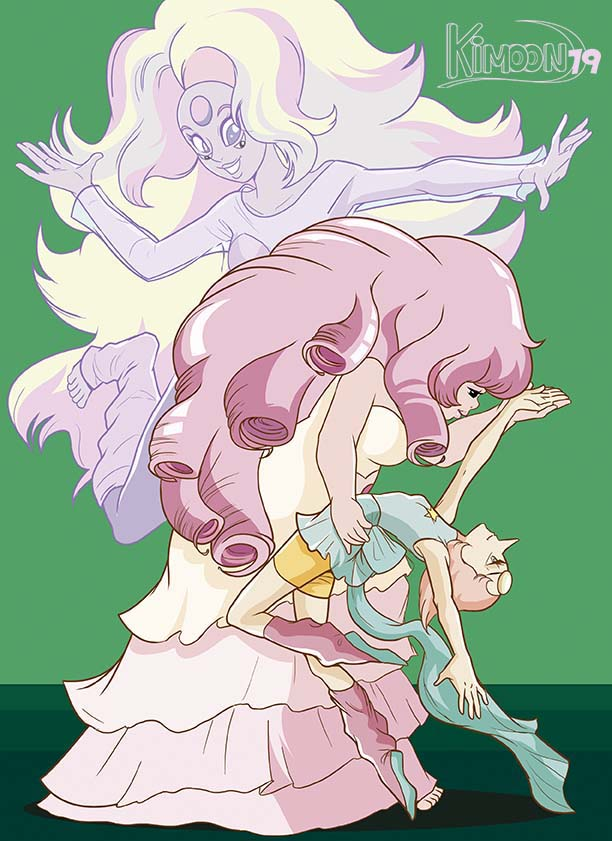 The beautiful dance of Rose Quartz and Pearl in Steven Universe...