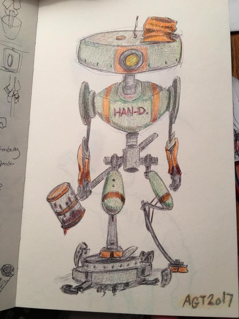 a real Han-D robot. by shurkin