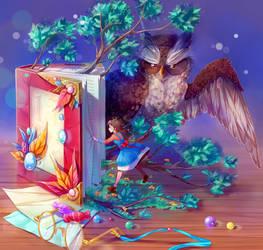 Magic Book by deerfox-art