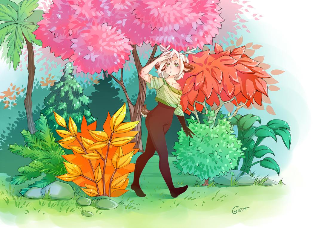 Colored trees by deerfox-art on DeviantArt