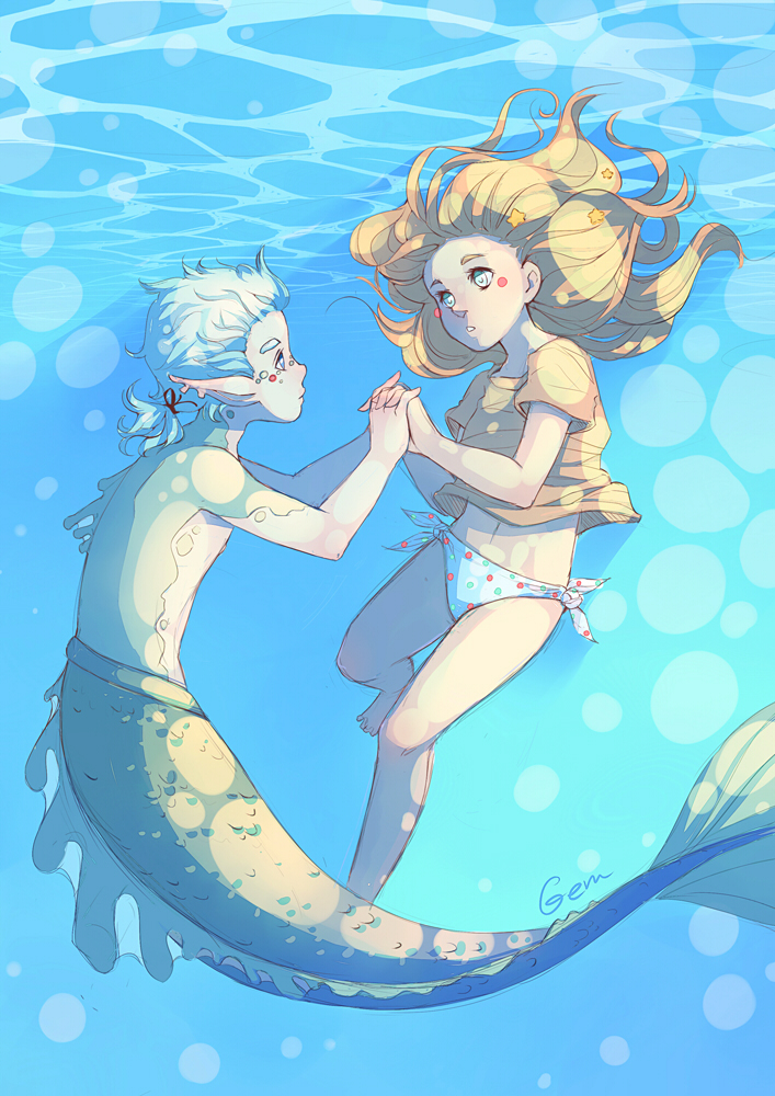Sunlight under water by Mikoele