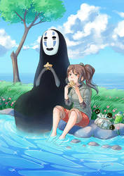Chihiro and No-Face