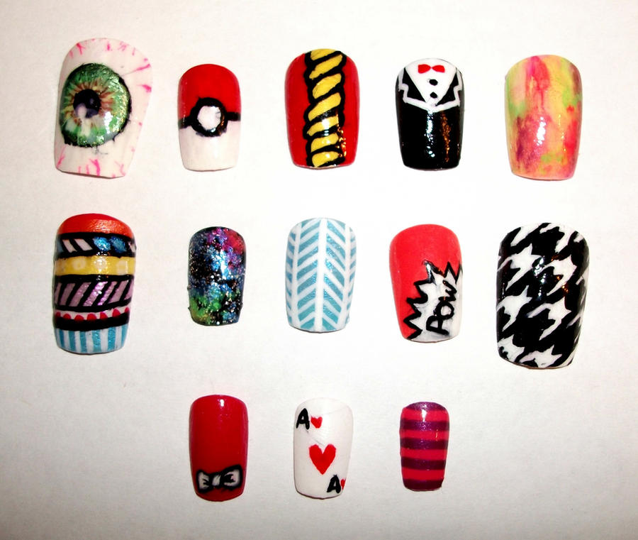 Mixed Nail Designs by kaylamckay