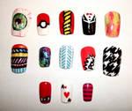 Mixed Nail Designs