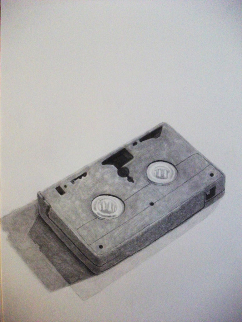 VHS Tape Drawing by kaylamckay