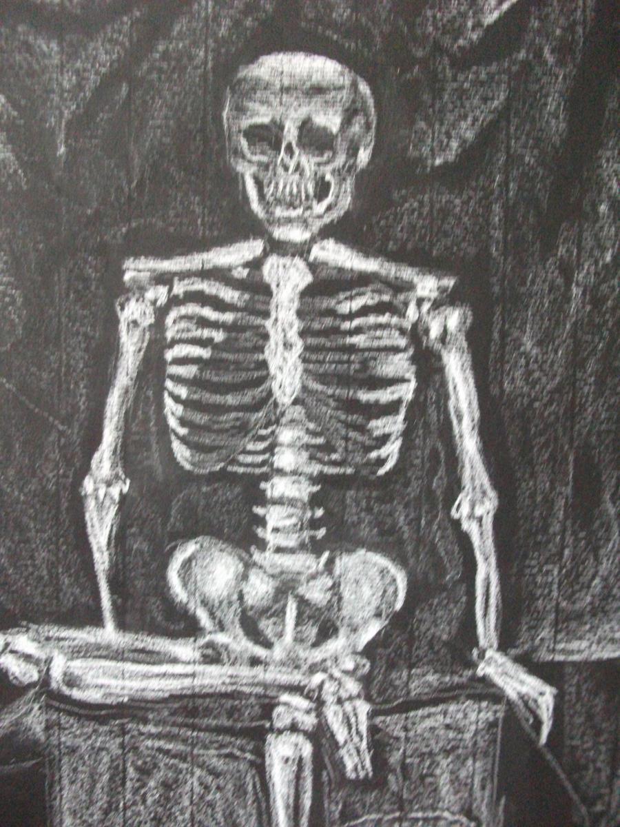 Skeleton Drawing by kaylamckay