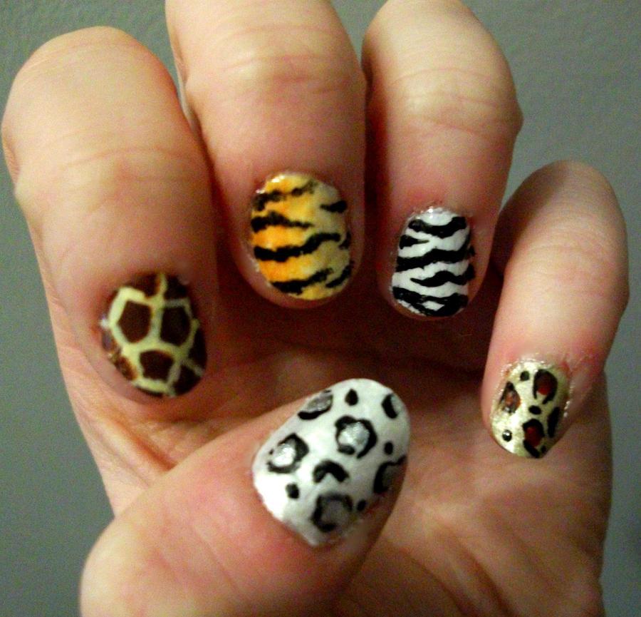 Animal print nail art by kaylamckay on deviantart animal print nail art by kaylamckay prinsesfo Images