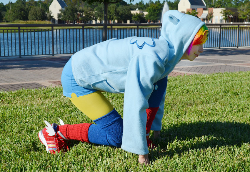 Rainbow Dash Hoodie Cosplay Costume by Monostache