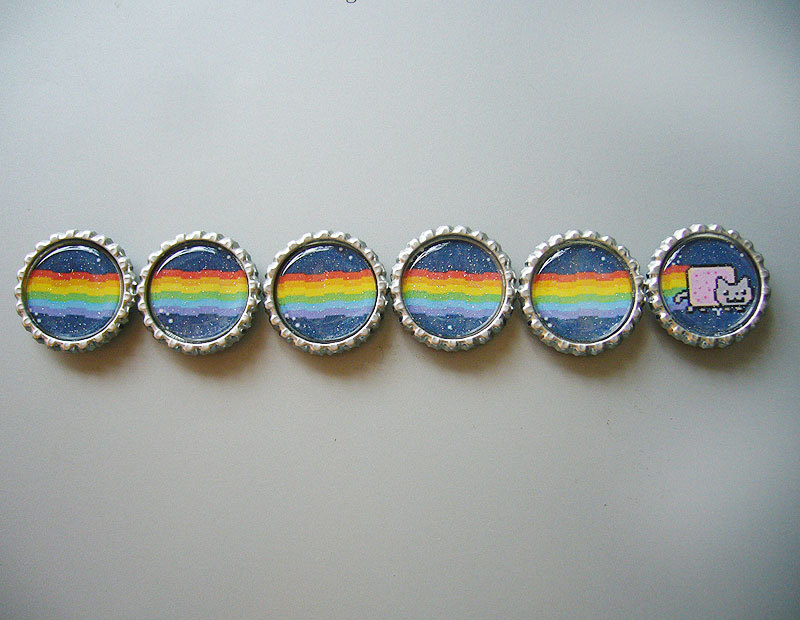 Nyan Cat Magnet Set by Monostache