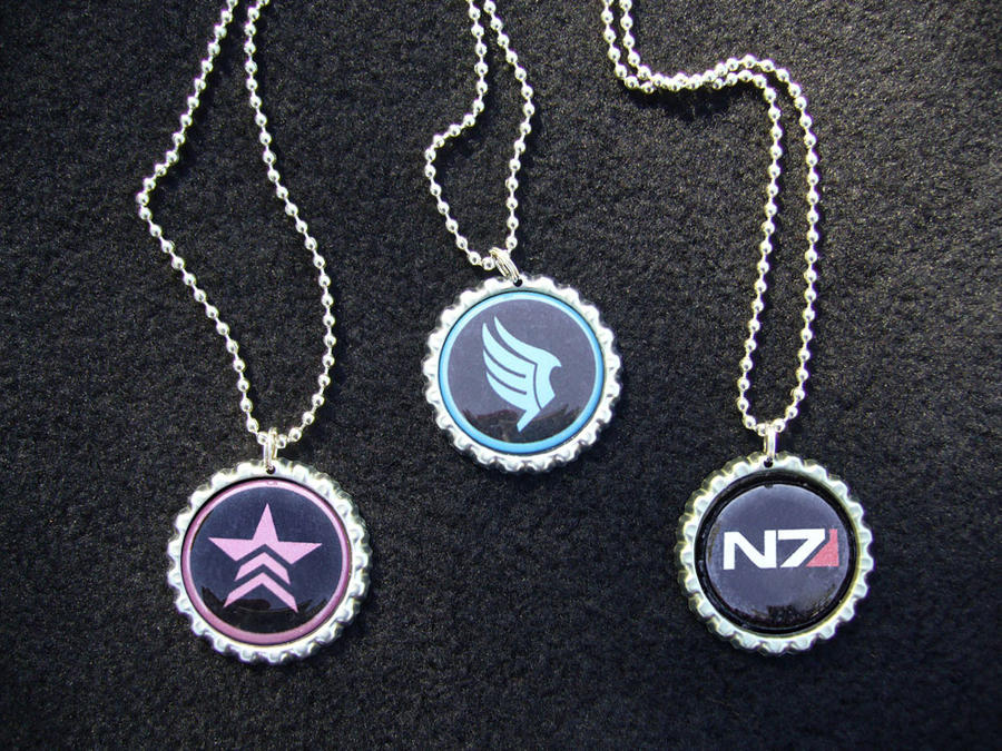 Mass Effect N7 Renegade Paragon Necklaces by Monostache