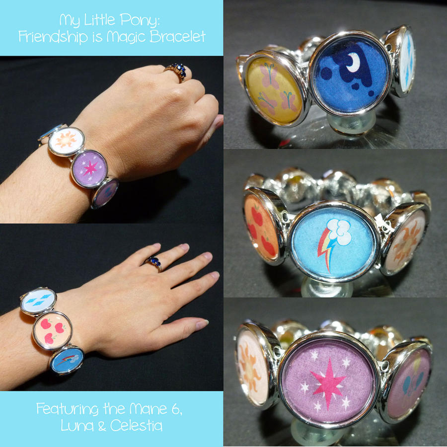 My Little Pony Friendship is Magic Bracelet by Monostache