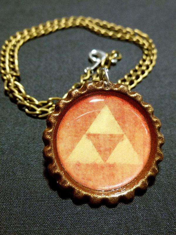 Triforce Legend of Zelda Link Necklace by Monostache