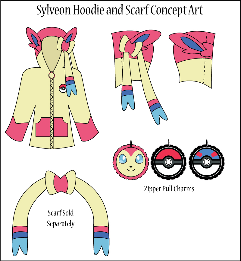 Sylveon Hoodie And Scarf Concept Art By Monostache On