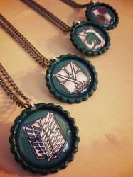 Attack on Fashion (Titan) Necklaces - Military by Monostache