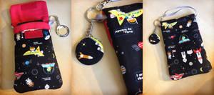 Kawaii Cosmos Phone and Nintendo 3DS Purselet