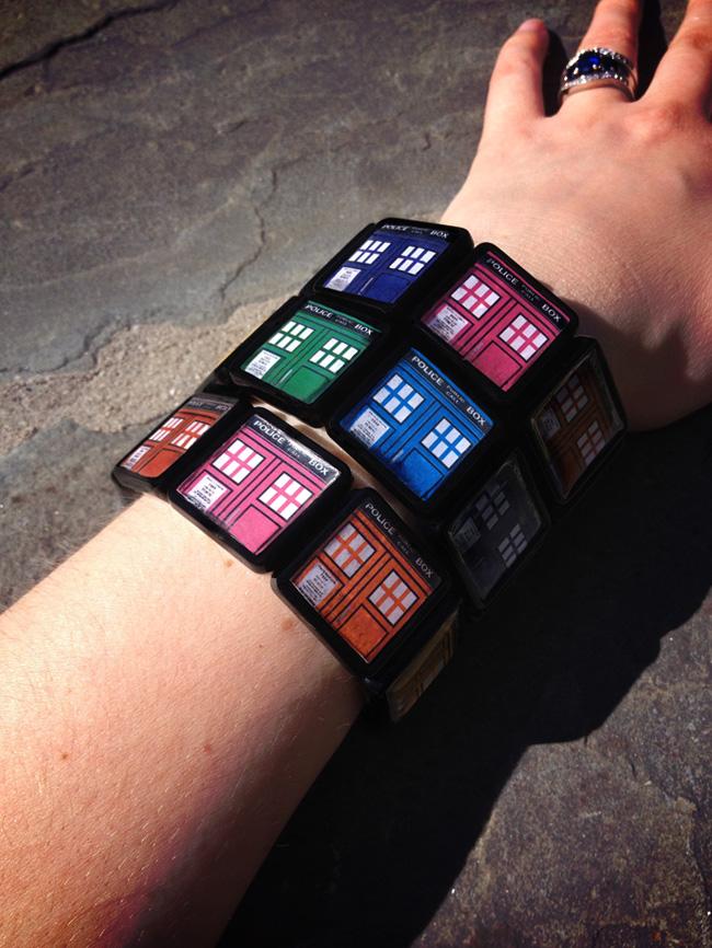 Rainbow TARDIS Handmade Bracelet - Doctor Who by Monostache