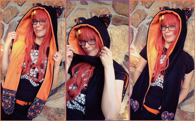 Halloween Scoodie with Fox Ears