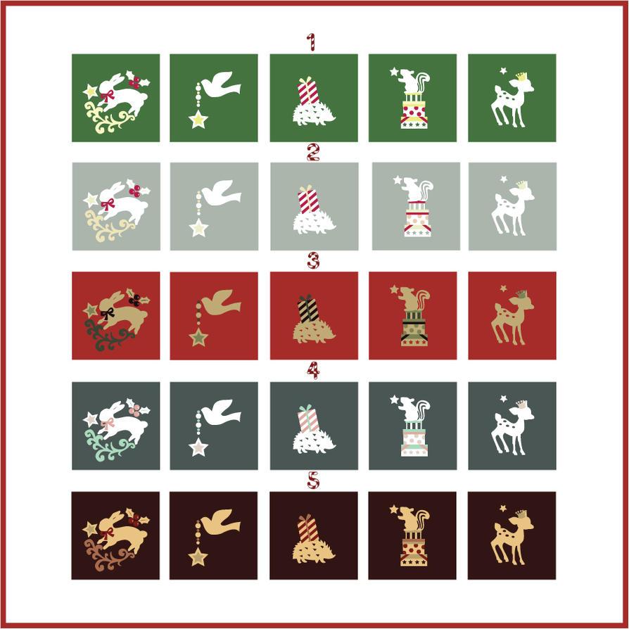 Christmas Woodland Creatures Color Schemes By Monostache