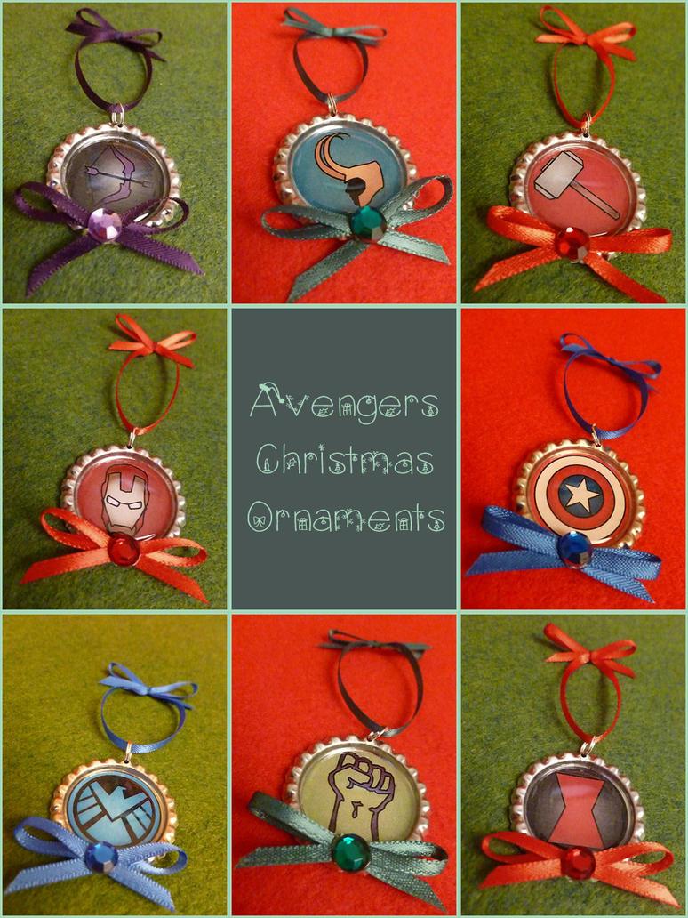 Avengers Christmas Ornaments by Monostache
