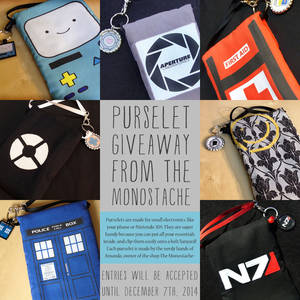 First Purselet Giveaway from the Monostache!