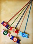 Sailor Senshi Bow Necklaces - Handmade - Inner