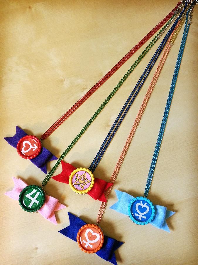Sailor Senshi Bow Necklaces - Handmade - Inner by Monostache