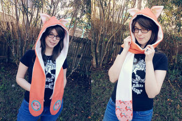 Foxes in Scarves Autumn Scoodie by Monostache