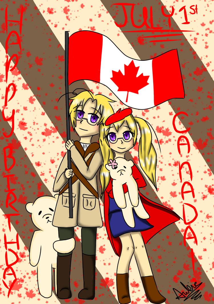 HAPPEH BIRTHDAY CANADA  by Shadowstream45