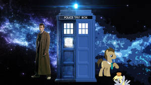 Doctor Who and Doctor Whooves - Wallpaper by Soniop