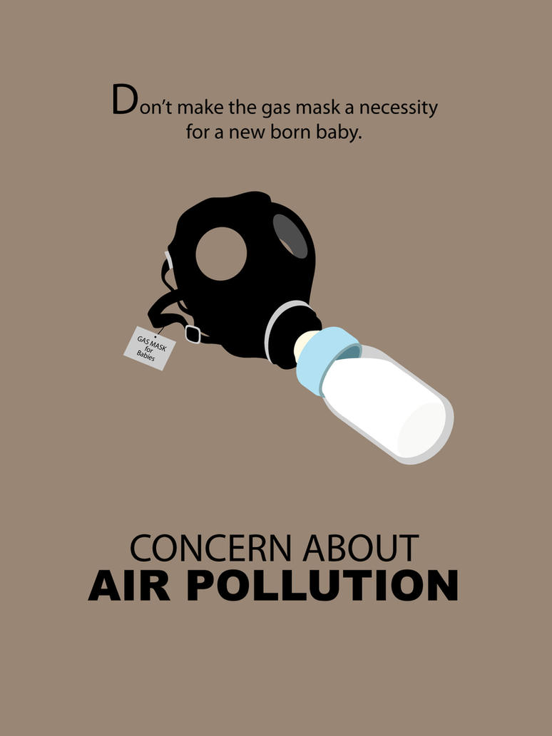 Best poster design 2014 - Anti Air Pollution Poster Design By Jyf1982