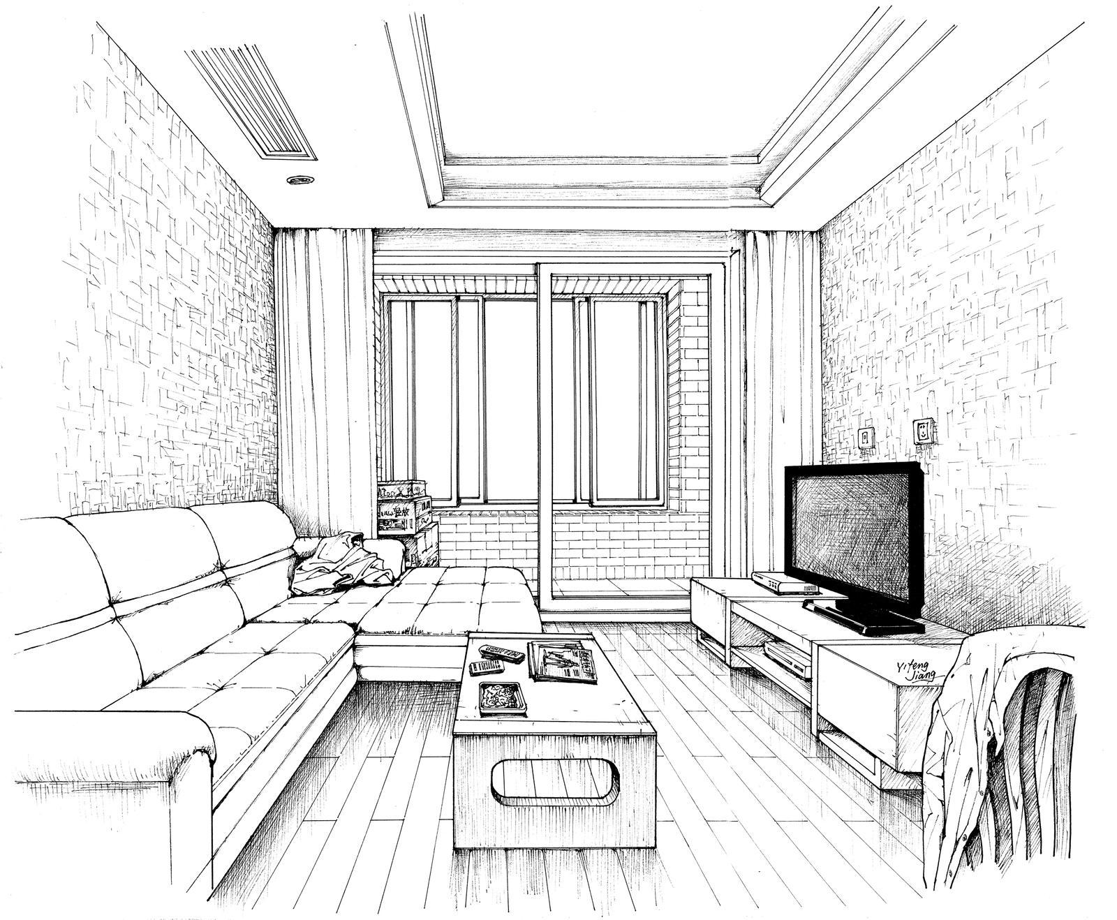 Interior Drawing By JYF1982 On DeviantArt