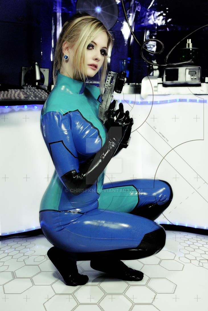 zero suit samus by chrisfkn