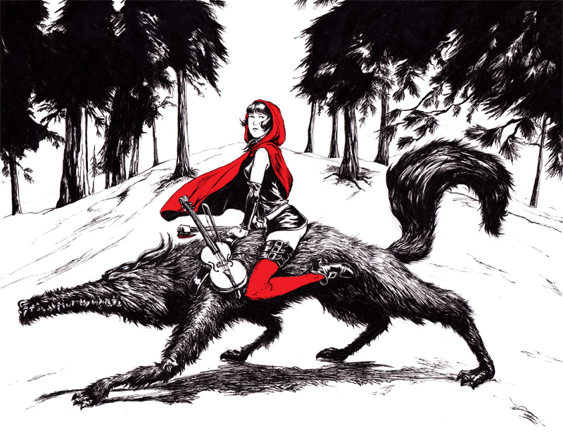 Red and Wolf by mistersmite