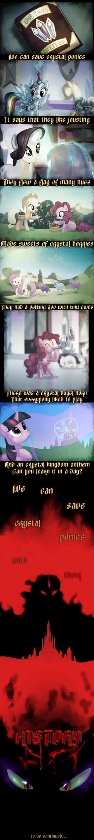 Save Crystal Ponies by ElkaArt