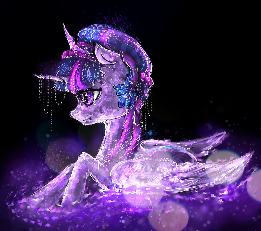 Crystal pony princess twilight sparkle by elkaart on for Crystal fall