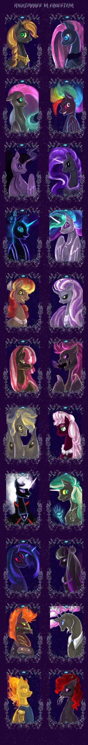 Nightmares in equestria by ElkaArt