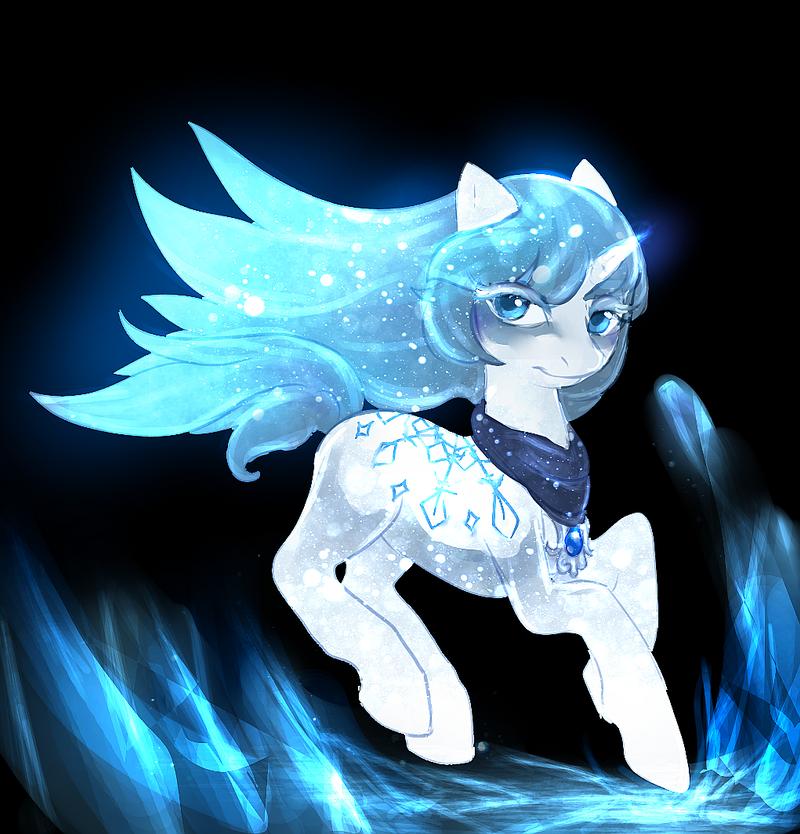 mlp Ice unicorn auction closed by ElkaArt on DeviantArt