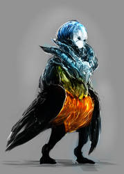 Demon harpy auction closed by ElkaArt