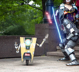 Zer0 and Claptrap- Borderlands 2