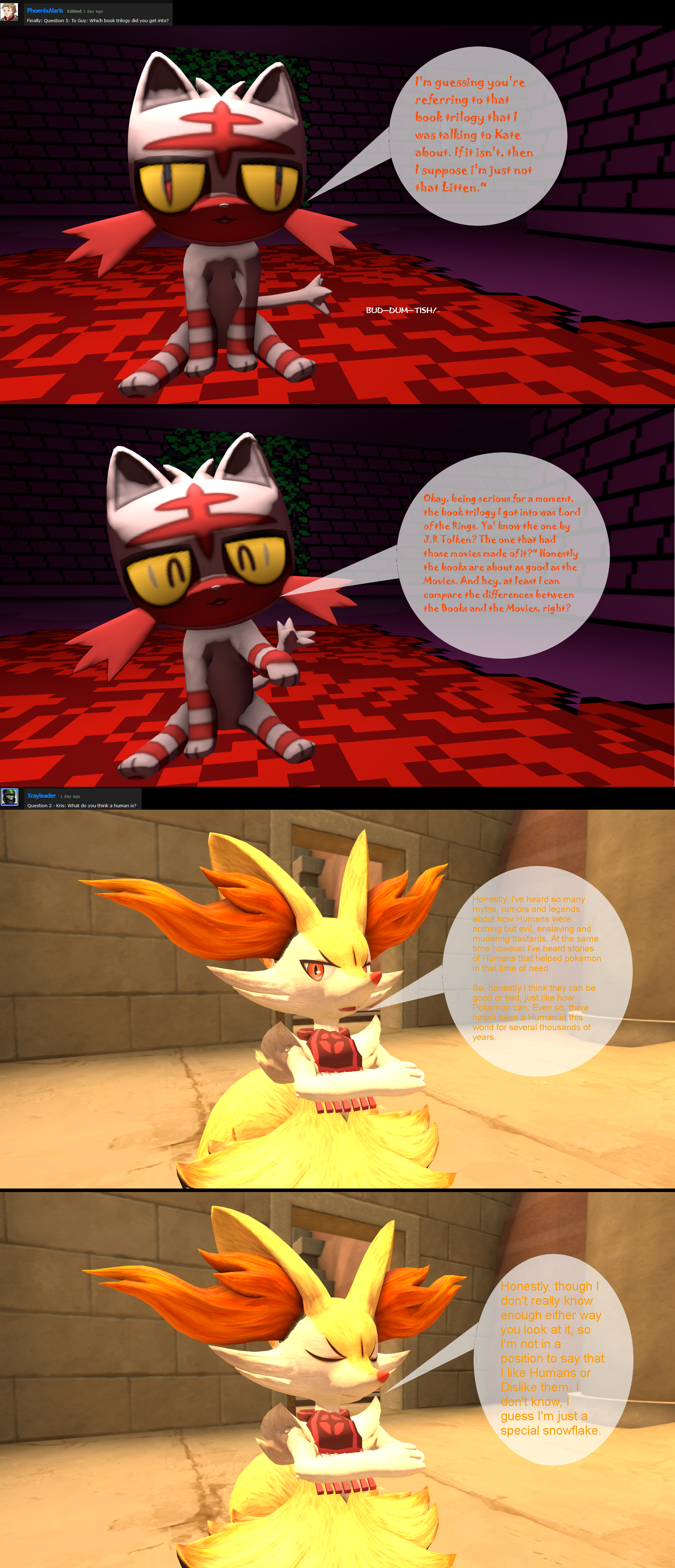 SFM} Questions and Answers #1 Responses 5 by AuraBraixen4412