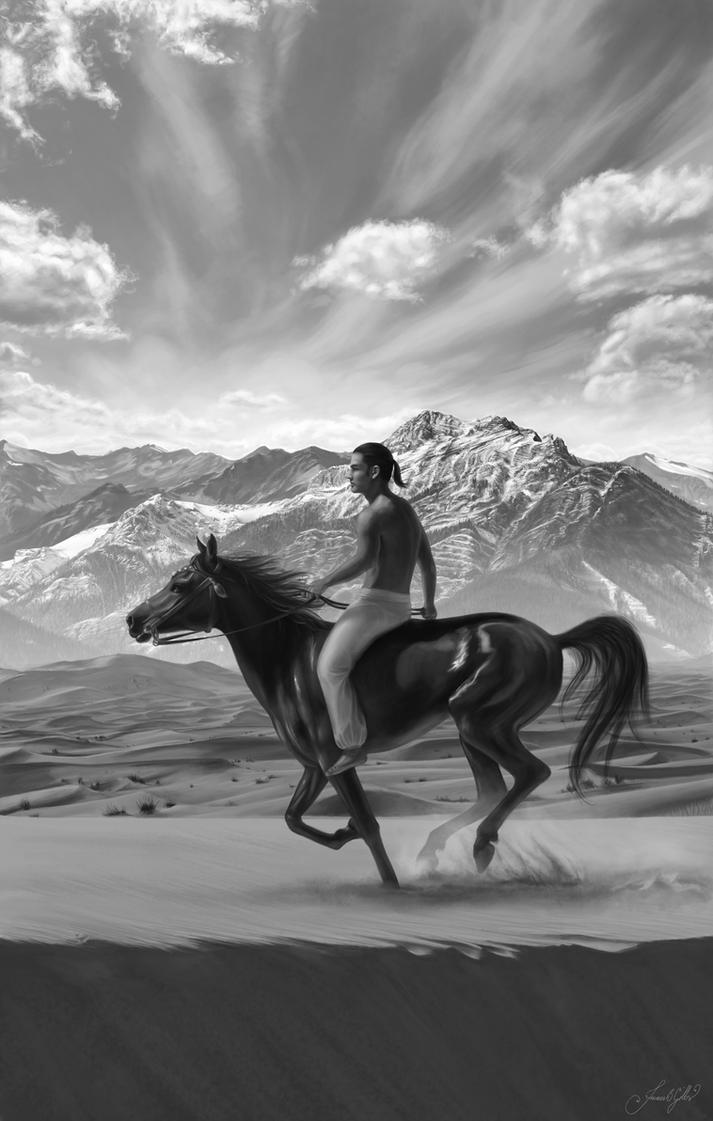 Zaharyan Horseman by sylverwolffe