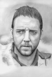russell crowe retrato by jpolanco