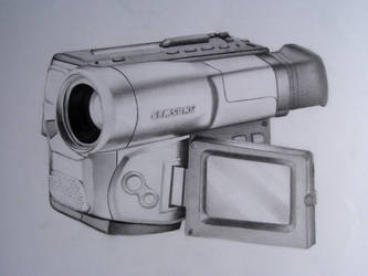 video camera pencil drawing by jpolanco