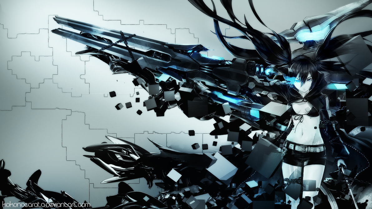 black rock shooter wallpaperkokonoearata on deviantart