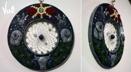 Floral zodiac Dreamcatcher by Valkyrie-21